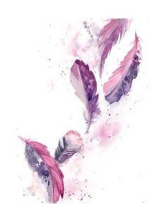Items similar to Purple feathers painting, Original watercolor painting, painting of feathers, purple pink feathers modern watercolour painting art on Etsy Watercolor Feather, Feather Painting, Watercolor Print, Watercolor Paintings, Original Paintings, Feather Drawing, Watercolor Tattoo, Purple Wall Art, Purple Painting
