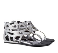 Silver Cut out sandals - Kinsley