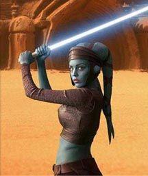 Chevalier Jedi Aayla Secura - Twi'lek assassinée par le Commandant Bly sur Felucia le jour de l'Ordre 66