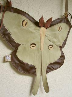 My Moon Handmade Leather Butterfly Bag Luna Moth by TheButterfliesShop
