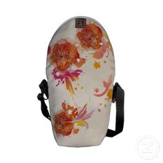 Abstract Floral Splatter Zero Messenger Bag