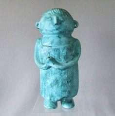 Bitossi / Bagni Figural Ceramic Statue in Blue