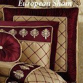 Roman Empire Piped European Sham. touchofclass.com