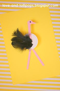 Love and Lollipops: O is for Ostrich bottle cap craft.
