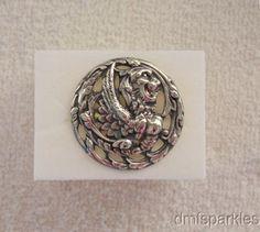 Sterling GRIFFIN Art Nouveau Button