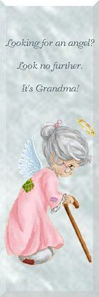 I try to be my granddaughter's angel, but really she's my angel**