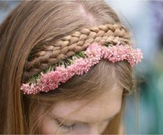 trenzas + flores