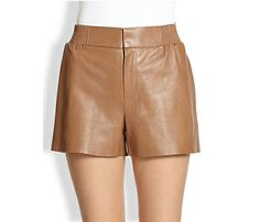 Work Winter Leather Shorts into Your Wardrobe This Season: Raoul Pull-On Leather Shorts, $450