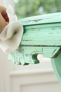 How To Give Furniture a Distressed Painted Finish — Apartment Therapy Tutorials Apartment Furniture, Furniture Projects, Home Projects, Distressed Furniture, Painted Furniture, Dark Stains, Chalk Paint, Apartment Therapy, Decorative Boxes