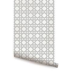 Geometric Grey Peel & Stick Fabric Wallpaper Repositionable