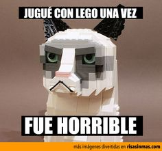 Grumpy Cat y LEGO (great example of pretérito    because it is a single, specific, isolated event in the past)