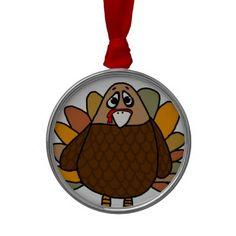 Thanksgiving Turkey Christmas Ornament #Thanksgiving #Turkey #Ornament