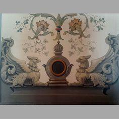 Фрагмент росписи в технике гротеск стилистика ренессанс