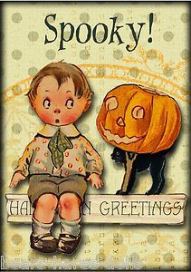 Darling Halloween Note Cards with Vintage Costumed Children