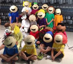 Awesome Peanuts Gang Group Costume... Coolest Halloween Costume Contest