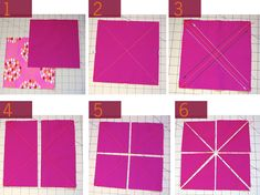 Easy HST Tutorial - a way to make a 8  half square triangles in one pass with minimal work. Try this.