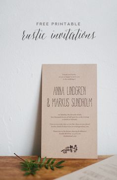 Simple DIY rustic wedding invitation and envelope liners from @Best Day Ever