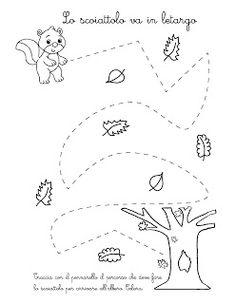 La maestra Linda: Percorsi d' Autunno... Sensory Activities Toddlers, Autumn Activities For Kids, Fall Crafts For Kids, Math For Kids, Preschool Writing, Kindergarten Math Worksheets, Pre Writing, Writing Skills, Felt Games