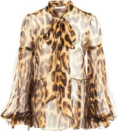 Shop for Leopard Blouse by Givenchy at ShopStyle. Fur Fashion, Fashion Prints, Leopard Blouse, Cool Style, My Style, Spring Outfits Women, Love Clothing, Beautiful Blouses, Autumn Winter Fashion