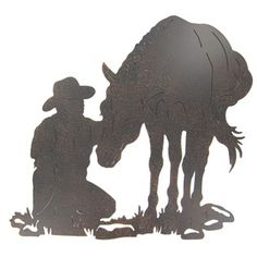 Cowboy & Horse Silhouette Wall Decoration | Shop Hobby Lobby