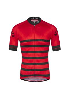 Core Jersey - Red/Black Striped Cycling Jersey Attaquer - 1