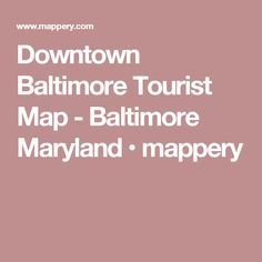 Baltimore Map Tourist Attractions httptravelsfinderscom