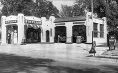Vintage Sinclair Gas Station