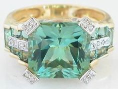 """Seafoam Tourmaline  When you look at your jewelry say to yourself, """"I am a gem, I am a shiny beautiful Jewel and I deserve the best""""."""