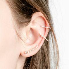 Silver Circular Ear Crawler
