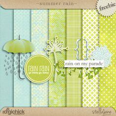 Free Summer Rain Mini Kit from stellajanedesign