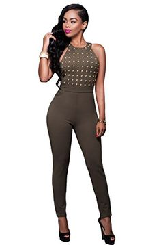 Women's Sexy Bodycon Club Rompers Jumpsuits One Piece Clu...