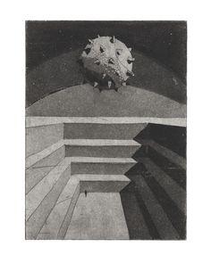 Helena Kalná, Arena, etching, aquatint