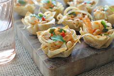 Shrimp Pad Thai Cups