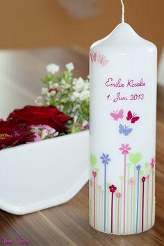 Hochzeitskerzen & Beleuchtung - Hochzeitskerze Herzwiese - ein Designerstück von Sannis-Wunschkerzen bei DaWanda