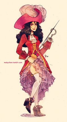 Fem!Captain Hook by Maby-chan.deviantart.com on @deviantART