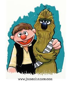 Star Wars: If Burt and Ernie were Han Solo and Chewy.