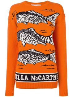 STELLA MCCARTNEY fishes instarsia jumper. #stellamccartney #cloth #jumper