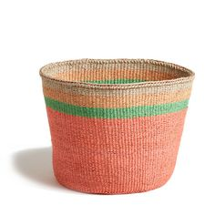 Peach Striped Basket - Kenya