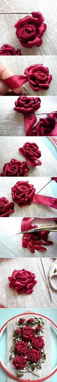 RIBBON EMBROIDERY..........PC...........Rosa