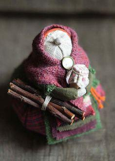 """Кукла-образ """"...бабушка-зима"""" - кукла,кукла ручной работы,кукла текстильная"""