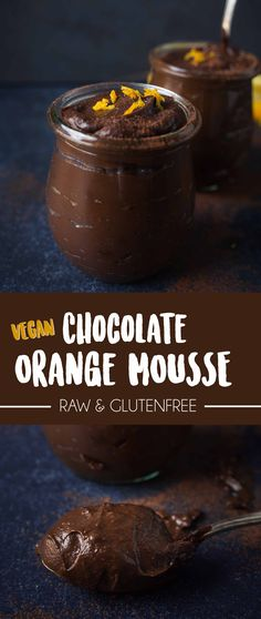Orange infused Vegan chocolate mousse