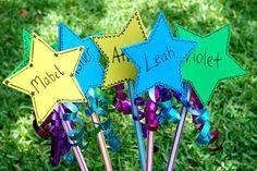 Pintucks and Ruffles: Birthday crafting: magic wands