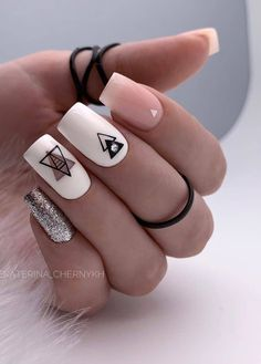 90 Beautiful Square Nails Design Ideas You'll Want To Copy Immediately – Page 7 – Cocopipi Manicure Nail Designs, Acrylic Nail Designs, Nails Design, Manicure Pedicure, Square Nail Designs, Short Nail Designs, Pink Nails, My Nails, Fall Nails