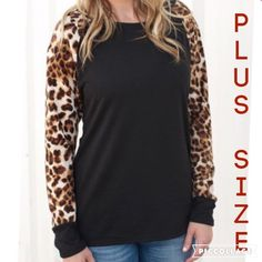 Available!! Plus size Leopard Long Sleeve ❤️ Plus size. XL, 2X, 3X sizes. (1) 2X available right now!!! Tag me with your size and I will make a posting for you when they come in! Torrid for exposure torrid Tops Tees - Long Sleeve