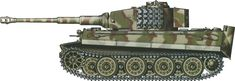 Tiger H/E camouflage patterns - Italy June 1944 sPzAbt508