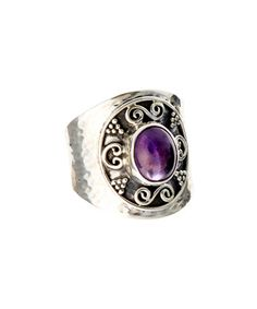 Look what I found on #zulily! Sterling Silver & Amethyst Balinese Ring #zulilyfinds