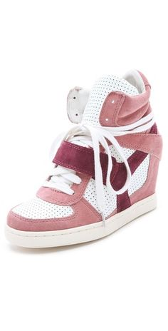 Love it :X Ash Cool Wedge Sneakers Wedge Sneakers, Wedge Heels, High Top Sneakers, Sporty Chic, Velcro Straps, Suede Shoes, Cool Stuff, Stuff To Buy, Baby Shoes