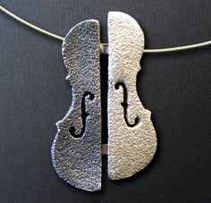 Violin / Cello / Viola shape handmade Necklace by SONSDARGENT, €45.00