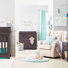 Simmons Kids Monterey Crib, Dresser & Nightstand featuring Adventure Awaits Nursery Decor from Cloud Island only @ Target