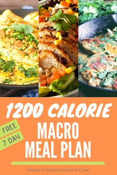 A simple, free 1200 Calorie Macro Meal Plan optimized for rapid weight loss! If you're a beginner to  tracking calories/macros this is the perfect starting point, complete with recipes, a shopping list, and all your macros pre-calculated